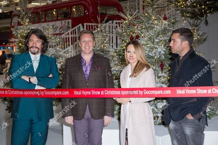 F'rom left, Laurence Llewelyn-Bowen, Olly Smith, Katie Piper and Gino D'Acampo pose for photographers during a photo call in London