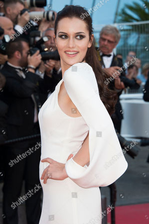 Fahriye Evcen poses for photographers upon arrival for the screening of the film Carol at the 68th international film festival, Cannes, southern France