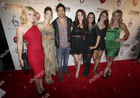 Actors Nikki Griffin, Tiffany Brouwer, Adam Huss, Catherine Annett, Kristen Deluca, Stacy Stas and Madison Dylan arrive to the Fear Net and Resident Evil Party at Voyeur Nightclub for Comic-Con weekend, in San Diego