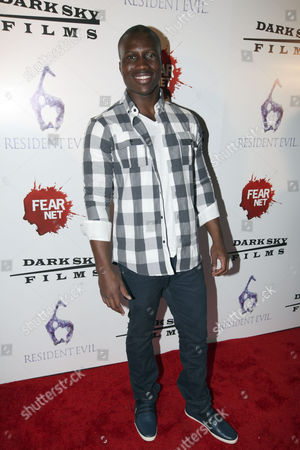 Actor Amadou Ly arrives to the Fear Net and Resident Evil Party at Voyeur Nightclub for Comic-Con weekend, in San Diego