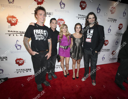 Dave Brockie, Adam Green, Corri English, Laura Ortiz and Joe Lynch arrive to the Fear Net and Resident Evil Party at Voyeur Nightclub for Comic-Con weekend, in San Diego