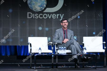 President of Discovery Channel, Rich Ross, speaks on stage at Discovery Communications 2015 Winter TCA, in Pasadena, Calif