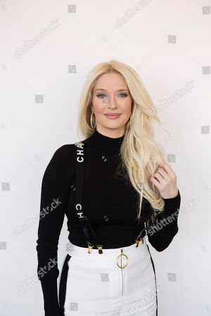 "Erika Girardi, the newest cast member on Bravo TV's ""The Real Housewives of Beverly Hills,"" poses for a portrait on in New York"