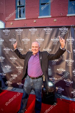 Stock Photo of Hamish Dodds, President and CEO of Hard Rock International poses on the red carpet at the Grand Reopening of Hard Rock Cafe Memphis, on in Memphis, Tenn