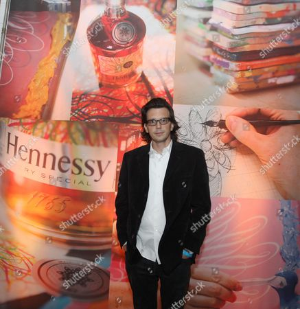 Artist Ryan McGinness is seen at the Hennessy V.S. launches limited edition bottle with Ryan McGinness event at Highline Stages, on in New York
