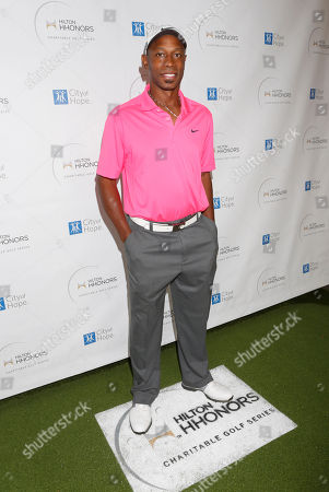 Kenny Lofton attends the Hilton HHonors Charitable Golf Series Finale Event, on at the Riviera Country Club in Pacific Palisades, Calif
