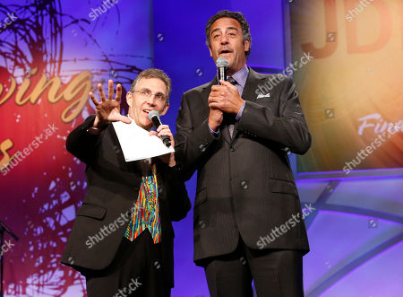 Jeff Randall and Brad Garrett attends the JDRF LA's 10th Annual Finding A Cure: The Love Story Gala at the Hyatt Regency Century Plaza on in Century City, California