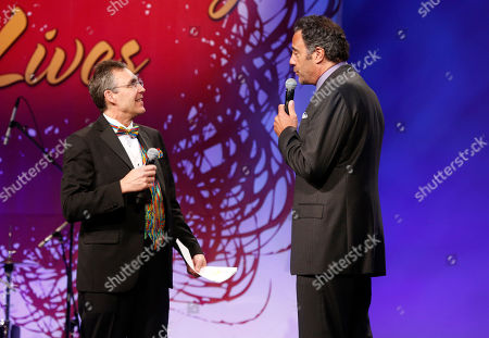 Stock Image of Jeff Randall and Brad Garrett attends the JDRF LA's 10th Annual Finding A Cure: The Love Story Gala at the Hyatt Regency Century Plaza on in Century City, California
