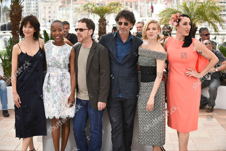 Sophie Marceau, Rokia Traore, Ethan Coen, Joel Coen, Sienna Miller and Rossy de Palma pose for photographers during a photo call for the Jury, at the 68th international film festival, Cannes, southern France