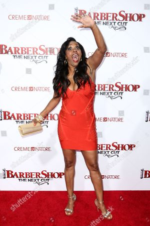 """Jazsmin Lewis attends the LA Premiere of """"Barbershop: The Next Cut"""" held at the TCL Chinese Theatre, in Los Angeles"""