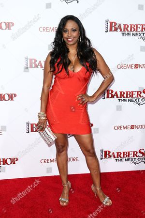 """Stock Photo of Jazsmin Lewis attends the LA Premiere of """"Barbershop: The Next Cut"""" held at the TCL Chinese Theatre, in Los Angeles"""