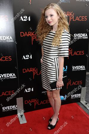 """Stock Photo of Addy Miller arrives at the LA Premiere of """"Dark Places"""" held at Harmony Gold Theater on in Los Angeles"""