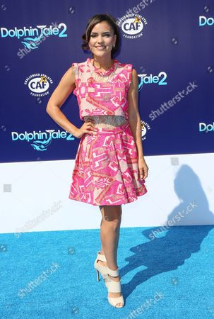 """Betsy Landin seen at the LA Premiere of """"Dolphin Tale 2"""" on at Regency Village Theater in Los Angeles, California"""