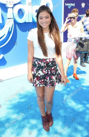 """Piper Curda seen at the LA Premiere of """"Dolphin Tale 2"""" on at Regency Village Theater in Los Angeles, California"""