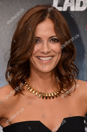 "Rebecca Budig arrives at the premiere of ""Getaway"" at the Regency Village Theater on in Los Angeles"