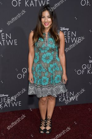 "Tracy Perez attends the LA Premiere of ""Queen of Katwe"" held at the El Capitan Theatre, in Los Angeles"