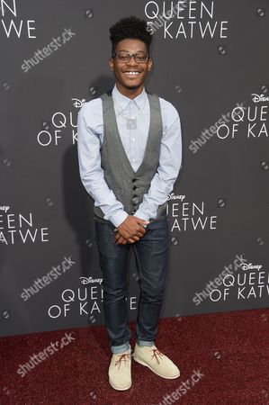 "Kamil McFadden attends the LA Premiere of ""Queen of Katwe"" held at the El Capitan Theatre, in Los Angeles"