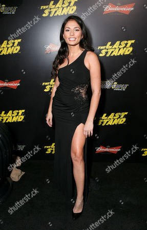 """Christiana Leucas attends the LA premiere of """"The Last Stand"""" at Grauman's Chinese Theatre, in Los Angeles"""