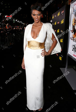 "Judith Shekoni attends the LA premiere of ""The Last Stand"" at Grauman's Chinese Theatre, in Los Angeles"