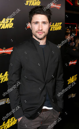 "Matt Dallas attends the LA premiere of ""The Last Stand"" at Grauman's Chinese Theatre, in Los Angeles"