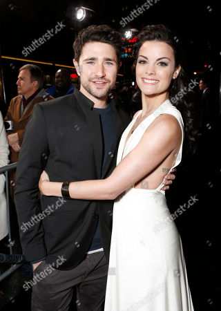 """Matt Dallas and Jaimie Alexander attend the LA premiere of """"The Last Stand"""" at Grauman's Chinese Theatre, in Los Angeles"""