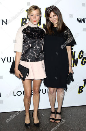"Chloe Sevigny, left, and Jeanne Tripplehorn arrive at the LA premiere of ""The Bling Ring"" at the Director's Guild of America on in Los Angeles"