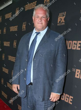 """Abraham Benrubi arrives at the premiere screening of """"The Bridge"""" at the Pacific Design Center, in West Hollywood, Calif"""
