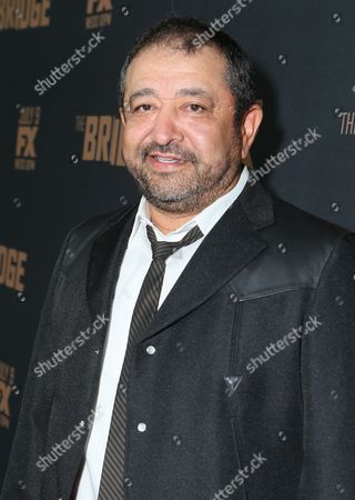 Stock Image of Alejandro Patino arrives at the premiere screening of 'The Bridge' at the Pacific Design Center, in West Hollywood, Calif