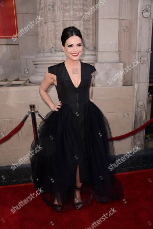 """Actress Lanna Parrilla attends a special screening of the season four premiere of the ABC television series """"Once Upon a Time"""" at the El Capitan Theatre on in Los Angeles"""