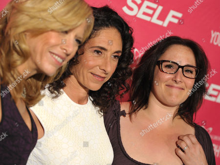 """Lucy Danziger, Mandy Ingber and Ricki Lake arrive at the SELF Magazine and Jennifer Aniston celebration for Mandy Ingber's new book """"Yogalosophy:28 Days to the Ultimate Mind-Body Makeover"""" by Seal Press at the Soho House on in Los Angeles"""