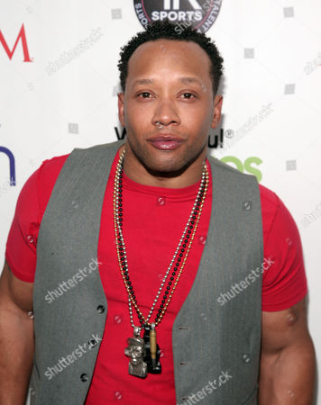 Former professional football player Jamal Anderson attends the Maxim Magazine Super Bowl Party on in New York