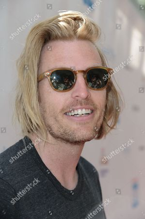 Stock Photo of Dallas Clayton arrives at Milk + Bookies Story Time Celebration held at the Skirball Cultural Center, in Los Angeles