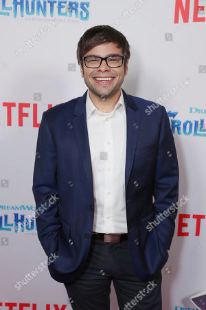 """Stock Photo of Charlie Saxton seen at Netflix Special Screening of DreamWorks """"Trollhunters"""" at The Grove, in Los Angeles, CA"""