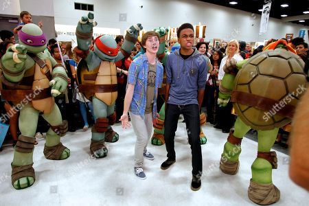 Stock Image of Actors Noah Crawford and Chris O'Neal attends Nickelodeon during Comic-Con, in San Diego, Calif