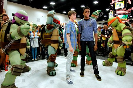 Stock Photo of Actors Noah Crawford and Chris O'Neal attends Nickelodeon during Comic-Con, in San Diego, Calif