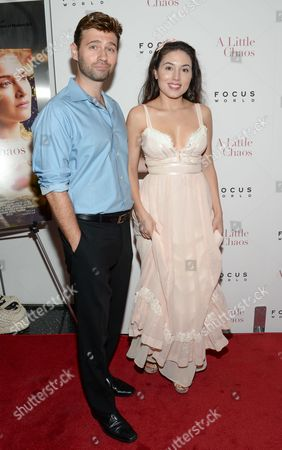 """John Buffalo Mailer and Katrina Eugenia attend the premiere of """"A Little Chaos"""" at the Museum of Modern Art, in New York"""