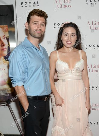 """Stock Picture of John Buffalo Mailer and Katrina Eugenia attend the premiere of """"A Little Chaos"""" at the Museum of Modern Art, in New York"""
