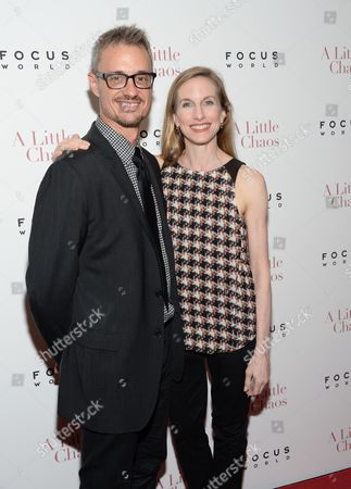 """Wendy Whelan and guest attend the premiere of """"A Little Chaos"""" at the Museum of Modern Art, in New York"""