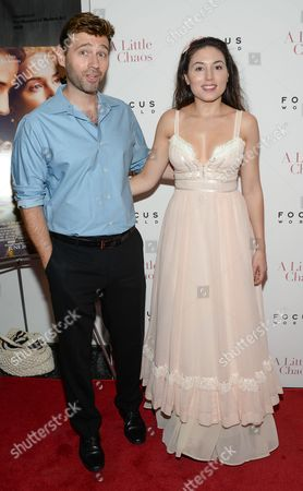 """Stock Photo of John Buffalo Mailer and Katrina Eugenia attend the premiere of """"A Little Chaos"""" at the Museum of Modern Art, in New York"""