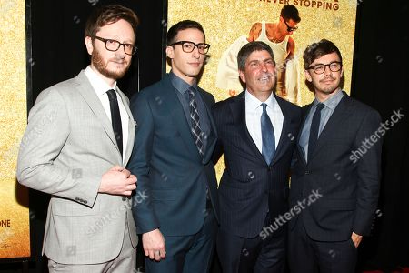 "Akiva Schaffer, from left, Andy Samberg, Morgan Sackett and Jorma Taccone attend the premiere of ""Popstar: Never Stop Never Stopping"" at AMC Loews Lincoln Square, in New York"
