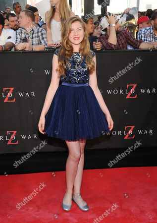 "Actress Abigail Hargrove attends the premiere of ""World War Z"" in Times Square on in New York"
