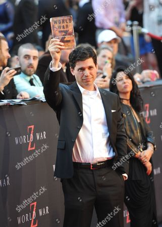 """The author of the book, Max Brooks attends the premiere of """"World War Z"""" in Times Square on in New York"""