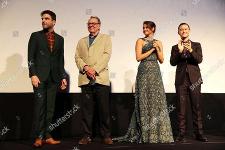 "Zachary Quinto, Tom Wilkinson, Shailene Woodley and Joseph Gordon-Levitt seen at Open Road Films' ""Snowden"" premiere at 2016 Toronto International Film Festival, in Toronto"