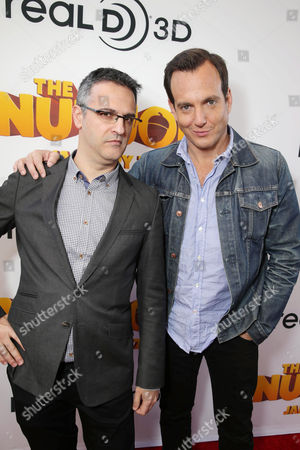 Director/Writer Peter Lepeniotis and Will Arnett seen at Open Road's Premiere of 'The Nut Job', on in Los Angeles