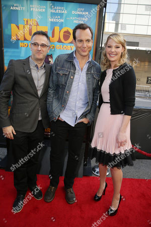 Director/Writer Peter Lepeniotis, Will Arnett and Katherine Heigl seen at Open Road's Premiere of 'The Nut Job', on in Los Angeles