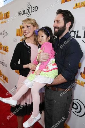 Katherine Heigl, Nancy Leigh Kelley and Josh Kelley seen at Open Road's Premiere of 'The Nut Job', on in Los Angeles