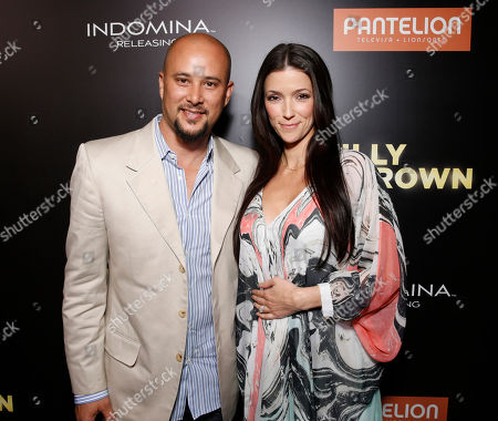 "Stock Photo of Cris Judd and Kelly Wolfe attend Pantelion's ""Filly Brown"" Los Angeles Premiere Hosted by the Rivera Family at the Regal LA Live Stadium on in Los Angeles"