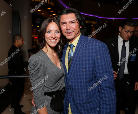 """Kerry Norton and Lou Diamond Phillips attend Pantelion's """"Filly Brown"""" Los Angeles Premiere Hosted by the Rivera Family at the Regal LA Live Stadium on in Los Angeles"""