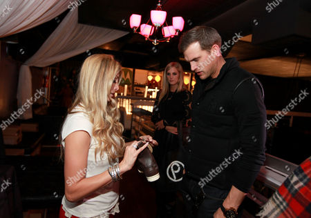 Stock Image of Matt Nordgren, right, is seen at PCL Day Lounge Day 2 on in Park City, Utah