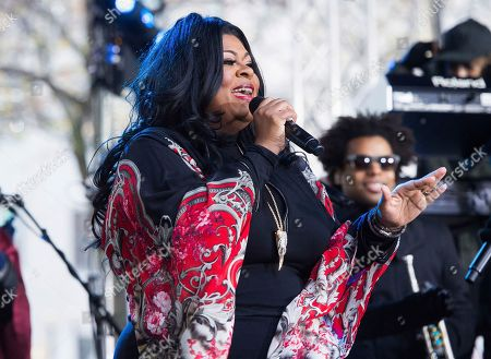 "Stock Image of Kim Burrell performs on NBC's ""Today"" show at Rockefeller Plaza, in New York"
